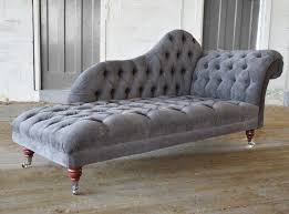 Velvet Chaise Lounge Chesterfield Chaise Longue Fabric On Casters Naples Abode