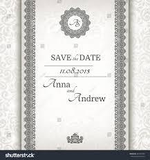 Invitation Card Border Invitation Card Baroque Grey Silver Vintage Stock Vector 243761050
