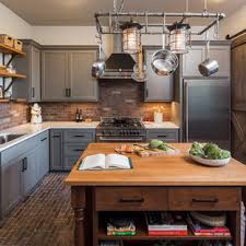 what color backsplash with gray cabinets 75 beautiful kitchen with gray cabinets and brick backsplash
