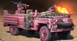 sas land rover italeri s a s recon vehicle pink panther 1 35 scale plastic model