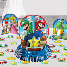 Super Mario Decorations Super Mario Brothers Party Supplies Woodies Party