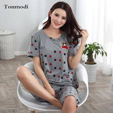 elderly nightgowns cotton pajamas for women summer sleeve pyjamas sleepwear