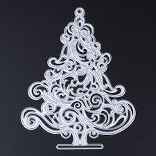 Stencil Albero by Negozio Online Albero Di Natale Decorazioni In Metallo Taglio