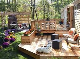 cool backyard deck design in interior home paint color ideas with