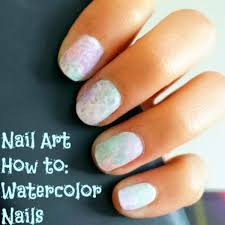 nail art how to watercolor nails two ways college fashion