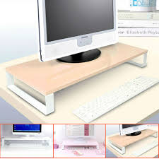 Computer Stand For Desk For Monitor And Keyboard Glass Lcd Monitor Stand Desktop Keyboard