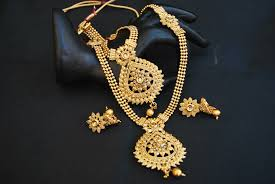 gold beaded necklace set images Imitation gold tone floral motif necklace set jpg