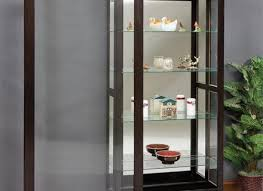 curio cabinet with light decorating glass curio cabinets with lights small cheap curved for