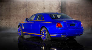 roll royce ghost white mansory rolls royce ghost upgrades in white and electric blue gold