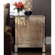 Mirrored Night Stands Antique Gold Mirrored Nightstand Vanity Decoration