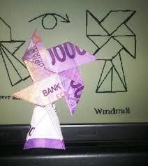 cara membuat origami kincir angin cara membuat origami kincir angin dari uang diy pinterest