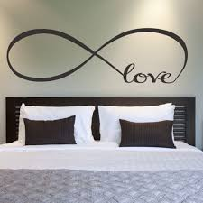 special bedroom wall art theme for cozy and decorative look elegant design of the bedroom wall art ideas with love word on the grey wall with