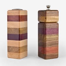 g3 studios wood salt shaker and pepper grinder set fresh crafts