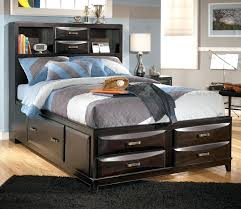 Bookcase Headboard With Drawers Bookcase Queen Size Bed Frame With Bookcase Headboard Queen Size