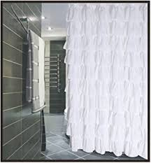Ruffled Shower Curtains Gee Di Moda Luxury Ruffle Bathroom Shower
