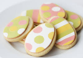 Decorating Easter Egg Sugar Cookies Cake Paper Party
