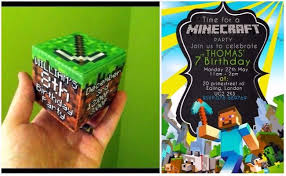 minecraft birthday invitations minecraft birthday invitations free printable