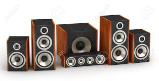 audio system for home theater set of red wooden speakers for home theater 5 1 hi fi audio system