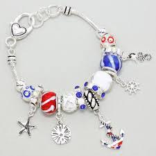 silver european bracelet images Silver european style anchor charm bracelet JPG