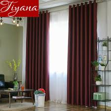 Sheer Burgundy Curtains Window Bedroom Solid Curtains Burgundy Kitchen Voile White Sheer