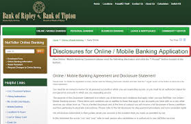 bank of ripley online banking login cc bank