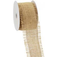 burlap wired ribbon 2 5 frayed edge wired burlap ribbon 10 yards x310140