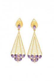 kanphool earrings earrings exclusive kanphool earring purple colour new