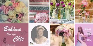 style boheme chic décoration florale de mariage thème