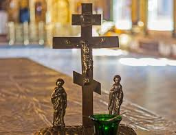 russian orthodox crosses celebrating orthodox easter in russia ukraine east central