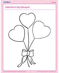 valentine u0027s day bouquet u2013 valentine u0027s day coloring pages