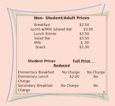 snack bar menu template school menu templates 14 free printable pdf documents