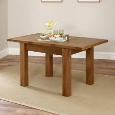rustic oak small 4 6 seater extending dining table amazon co uk