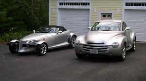 chrysler prowler the retro trio prowler ssr and thunderbird