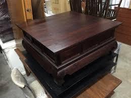 antique teakwood coffee table henry furnishing furniture