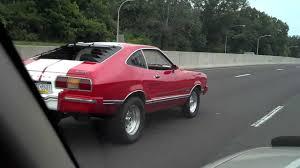 mustang 1975 cobra 1975 mustang 2 cobra replica white stripes on highway