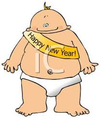 new year sash image a baby wearing a happy new year sash