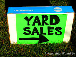 Organizing A Garage Sale - how to have a very successful yard sale making great signs and