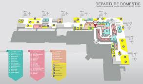 Airport Terminal Floor Plan by I Gusti Ngurah Rai International Airport Bali
