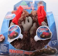 amazon com arthur christmas reindeer feet light up shoe covers