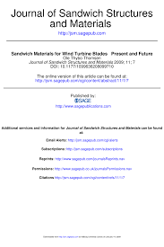 sandwich materials for wind turbine blades present and future