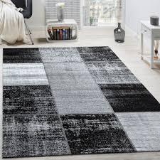teppich 300x300 designer teppich modern kurzflor karos speziell meliert grau