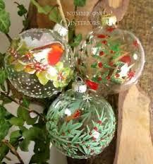 gisela graham glass baubles painted robin