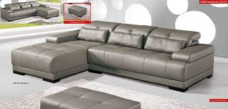 real leather sectional sofa genuine leather sectional sofa w adjustable headrests