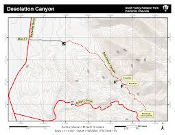 Map Of Death Valley Desolation Canyon Death Valley National Park U S National Park