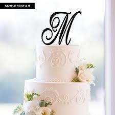 wedding cake toppers letters monogram cake topper m z favors