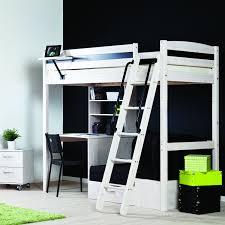 White High Sleeper Bed Frame High Sleeper With Futon Furniture Shop