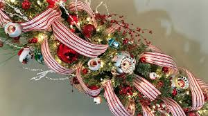 candy stripes christmas tree decorating christmas ribbon