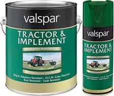 valspar tractor and implement enamel paint available colors