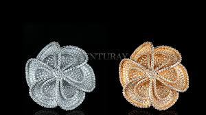 gold flower necklace designs images 18k gold plated 925 sterling silver flower design rings kenturay jpg