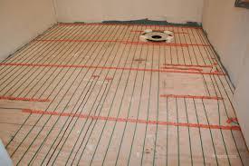 flooring electric radiant heat mat under tile floor via wikihow